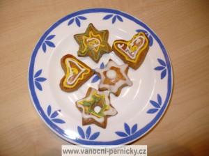 Vánoční perníčky - srdíčka, hvezdičky